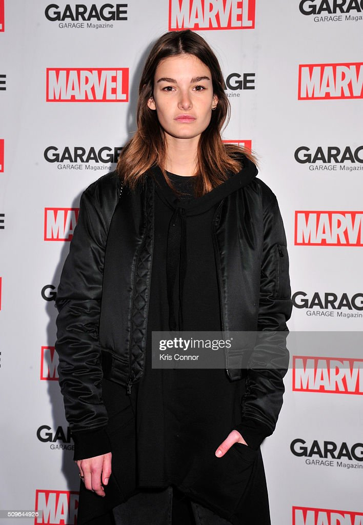 Ophelie Guillermand attends the Marvel and Garage Magazine New York Fashion Week Event on February 11, 2016 in New York City.