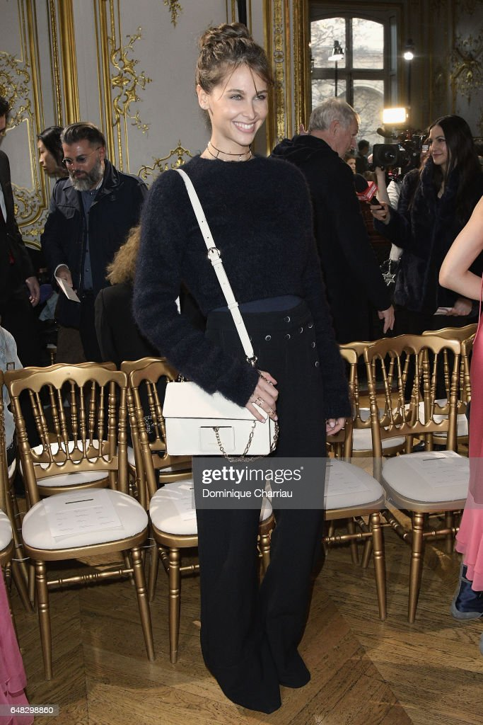 Ophelie Meunier attends the John Galliano show as part of the Paris Fashion Week Womenswear Fall/Winter 2017/2018 on March 5, 2017 in Paris, France.