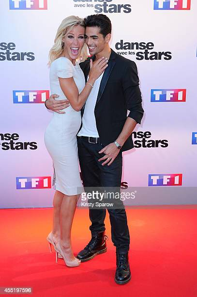 Ophelie Winter and Christophe Licata attend the 'Danse Avec Les Stars 2014' Photocall at TF1 on September 10 2014 in Paris France