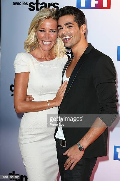 Ophelie Winter and Christophe Licata attend the photocall of 'Danse Avec Les Stars' At TF1 on September 10 2014 in Paris France