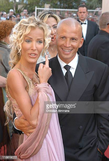 Ophelie Winter and Dida Diafat during 2005 Cannes Film Festival 'The Three Burials of Melquiades Estrada' Premiere in Cannes France