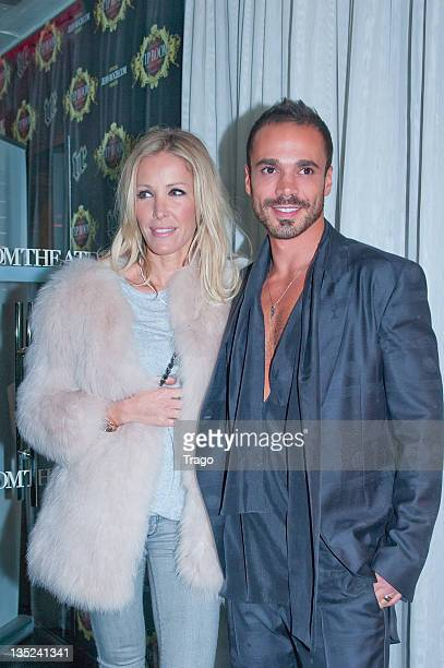 Ophelie Winter and guest attend 'Sissi' ring launch celebration dinner by jeweller Edouard Nahum at La Gioia on December 7 2011 in Paris France