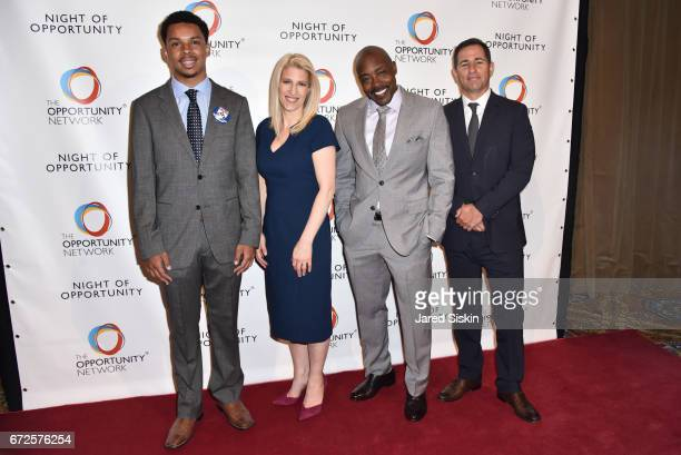 Opnet student Jessica Pliska Will Packer and Brian Weinstein attend The Opportunity Network's 10th Annual Night of Opportunity Gala at Cipriani Wall...