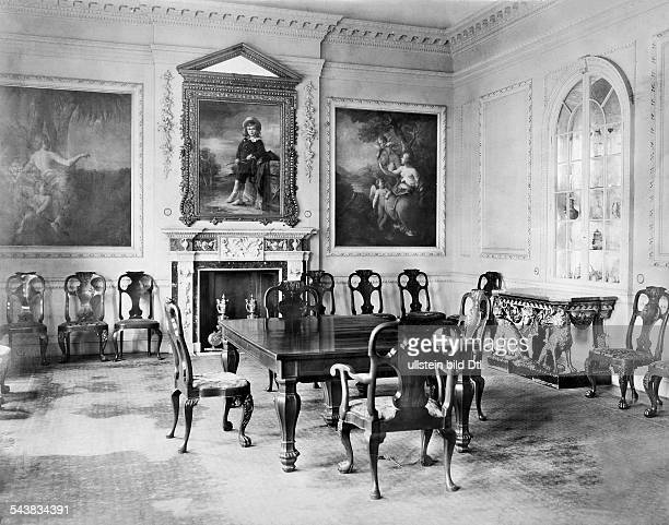 Oppenheim Max Freiherr von Diplomat Orientalist Archaeologist Germany*15071860 inside view of his flat in Cologne dining room 1914 Photographer...