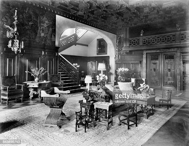 Oppenheim Max Freiherr von Diplomat Orientalist Archaeologist Germany*15071860 inside view of his flat in Cologne 1914 Photographer Waldemar...