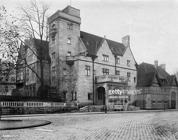 Oppenheim Max Freiherr von Diplomat Orientalist Archaeologist Germany*15071860 exterior view of his city palace in Cologne 1914 Photographer Waldemar...