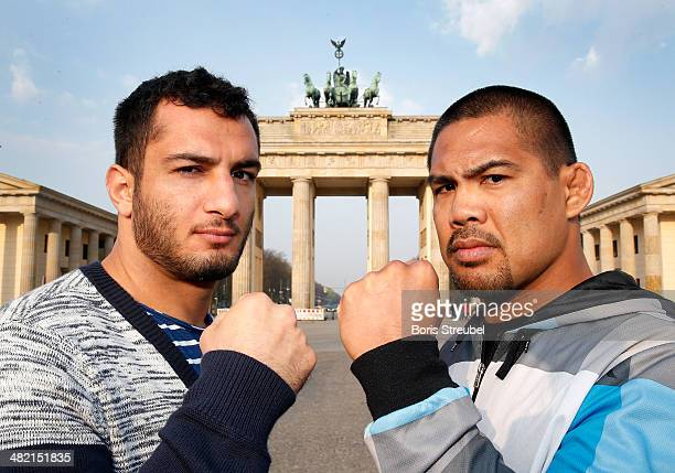Opponents Mark Munozu 'The Filipino Wrecking Machine' and Gegard Mousasi 'The Dreamcatcher' face off ahead of the UFC Fight Night Berlin at...