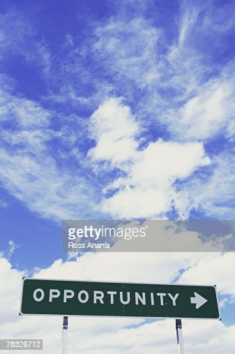 Opportunity to the right : Stock Photo