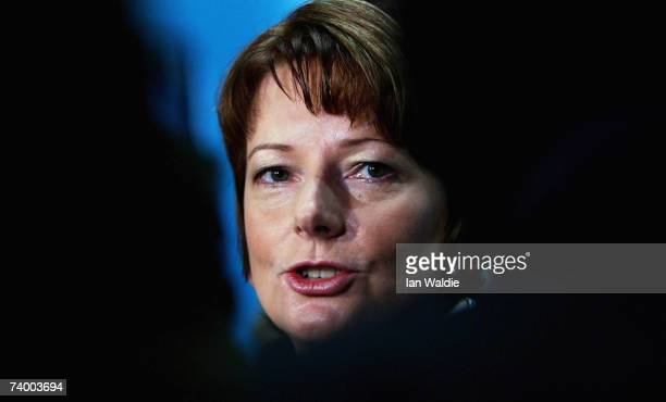 Opposition deputy leader Julia Gillard attends the 44th National Conference of the Australian Labor Party April 27 2007 in Sydney Australia Labor...
