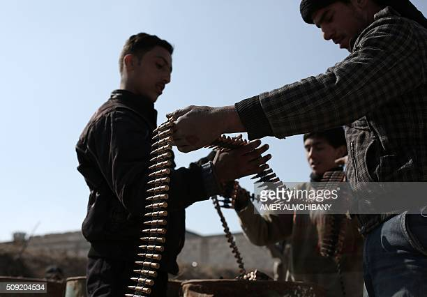 Opposition fighters belonging to Jaish alIslam the foremost rebel group in Damascus province who fiercely oppose to both the regime and the Islamic...
