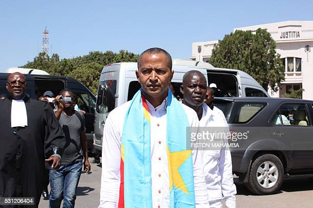 Opposition figure Moise Katumbi arrives at the courthouse in Lubumbashi on May 13 2016 Police in DR Congo fired tear gas today to break up a...