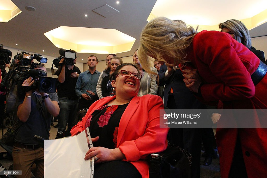 Opposition Leader, Australian Labor Party <a gi-track='captionPersonalityLinkClicked' href=/galleries/search?phrase=Bill+Shorten&family=editorial&specificpeople=606712 ng-click='$event.stopPropagation()'>Bill Shorten</a> and wife Chloe Shorten visit Northcott, a disability support centre in Parramatta on July 1, 2016 in Sydney, Australia.<a gi-track='captionPersonalityLinkClicked' href=/galleries/search?phrase=Bill+Shorten&family=editorial&specificpeople=606712 ng-click='$event.stopPropagation()'>Bill Shorten</a> is campaigning heavily on Medicare, promising to make sure it isn't privatised if the Labor Party wins the Federal Election on July 2.
