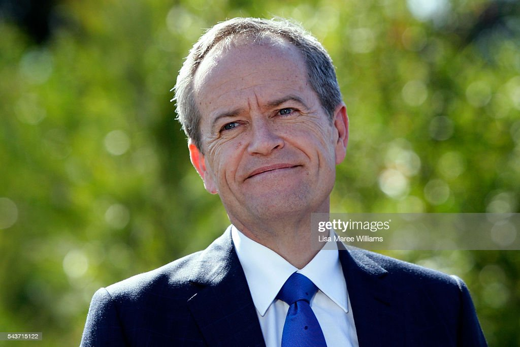 Opposition Leader, Australian Labor Party <a gi-track='captionPersonalityLinkClicked' href=/galleries/search?phrase=Bill+Shorten&family=editorial&specificpeople=606712 ng-click='$event.stopPropagation()'>Bill Shorten</a> attends a press conference on June 30, 2016 in Logan, Australia. <a gi-track='captionPersonalityLinkClicked' href=/galleries/search?phrase=Bill+Shorten&family=editorial&specificpeople=606712 ng-click='$event.stopPropagation()'>Bill Shorten</a> is campaigning heavily on Medicare, promising to make sure it isn't privatised if the Labor Party wins the Federal Election on July 2.