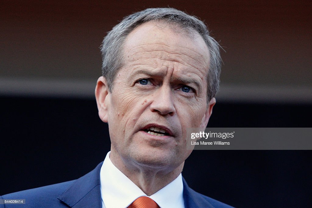 Opposition Leader, Australian Labor Party <a gi-track='captionPersonalityLinkClicked' href=/galleries/search?phrase=Bill+Shorten&family=editorial&specificpeople=606712 ng-click='$event.stopPropagation()'>Bill Shorten</a> speaks with the media during a visit to the Tharawal Aboriginal Corporation Child and Family Centre in Campbeltown on July 1, 2016 in Sydney, Australia. <a gi-track='captionPersonalityLinkClicked' href=/galleries/search?phrase=Bill+Shorten&family=editorial&specificpeople=606712 ng-click='$event.stopPropagation()'>Bill Shorten</a> is campaigning heavily on Medicare, promising to make sure it isn't privatised if the Labor Party wins the Federal Election on July 2.