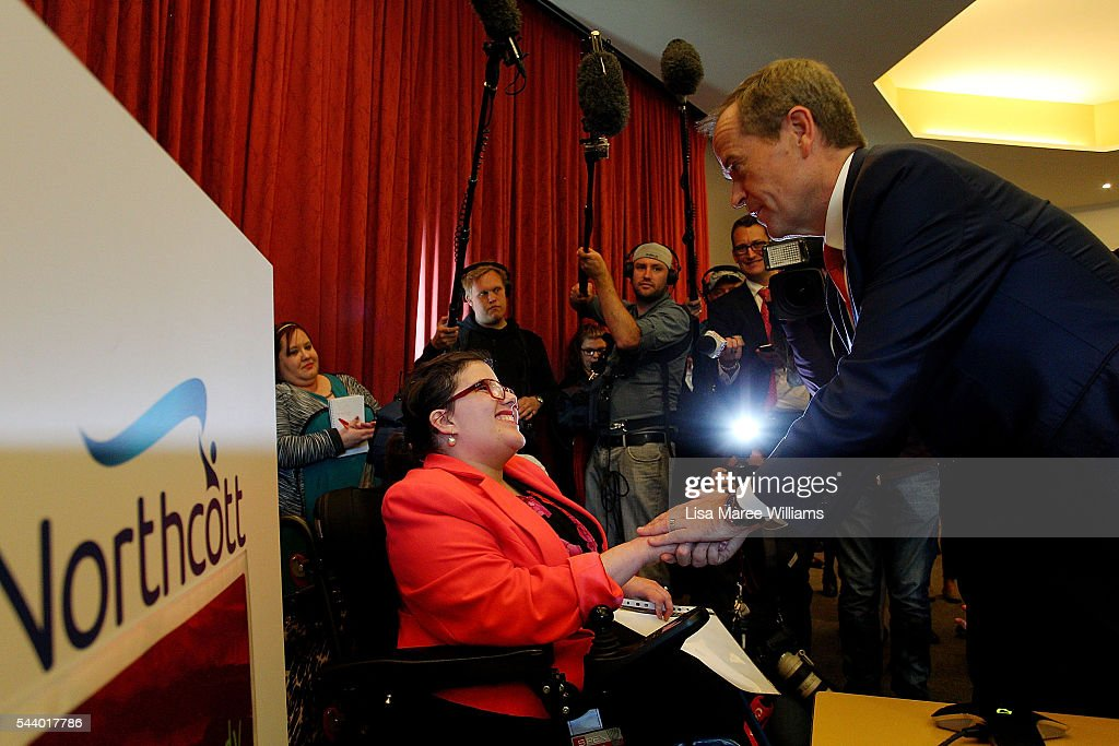 Opposition Leader, Australian Labor Party <a gi-track='captionPersonalityLinkClicked' href=/galleries/search?phrase=Bill+Shorten&family=editorial&specificpeople=606712 ng-click='$event.stopPropagation()'>Bill Shorten</a> visits Northcott a disability support centre in Parramatta on July 1, 2016 in Sydney, Australia.<a gi-track='captionPersonalityLinkClicked' href=/galleries/search?phrase=Bill+Shorten&family=editorial&specificpeople=606712 ng-click='$event.stopPropagation()'>Bill Shorten</a> is campaigning heavily on Medicare, promising to make sure it isn't privatised if the Labor Party wins the Federal Election on July 2.