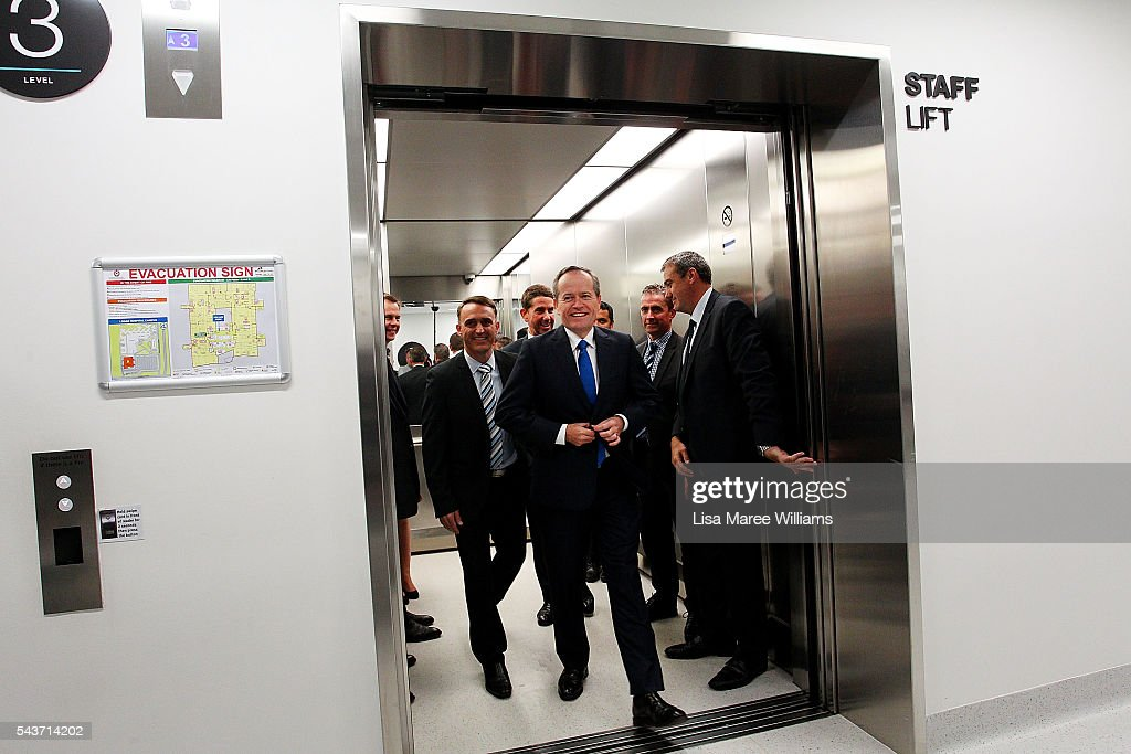 Opposition Leader, Australian Labor Party <a gi-track='captionPersonalityLinkClicked' href=/galleries/search?phrase=Bill+Shorten&family=editorial&specificpeople=606712 ng-click='$event.stopPropagation()'>Bill Shorten</a> visits the Childrens Ward at Logan Hospital on June 30, 2016 in Logan, Australia. <a gi-track='captionPersonalityLinkClicked' href=/galleries/search?phrase=Bill+Shorten&family=editorial&specificpeople=606712 ng-click='$event.stopPropagation()'>Bill Shorten</a> is campaigning heavily on Medicare, promising to make sure it isn't privatised if the Labor Party wins the Federal Election on July 2.