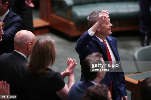 Opposition Leader Bill Shorten after delivering his budget reply address in the House of Representatives at Parliament House on May 11 2017 in...