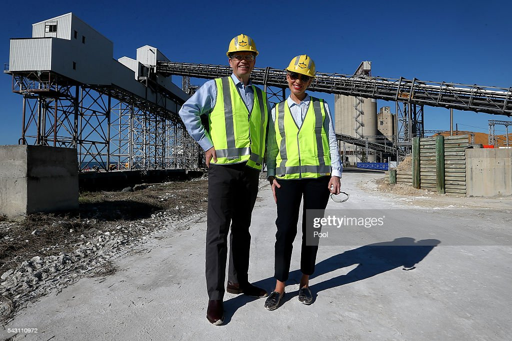 Opposition Leader Bill Shorten and Chloe Shorten pose for a photo during a visit to the Gladstone Ports Corporation's Auckland Point Terminal, on June 26, 2016 in Gladstone, Queensland. Shorten continues to campaign leading up to the July 2nd elections.