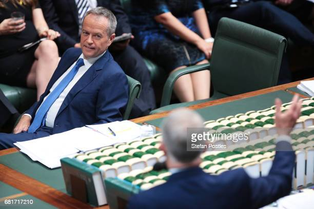 Opposition Leader Bill Shorten during House of Representatives question time at Parliament House on May 11 2017 in Canberra Australia The Turnbull...
