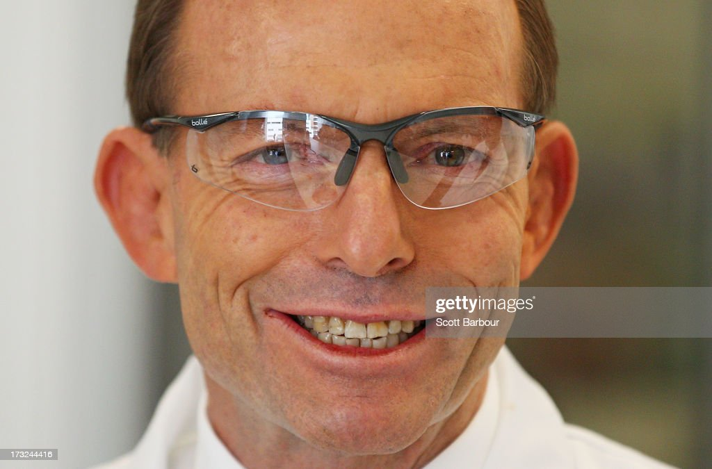 Opposition Leader Tony Abbott Visits Melbourne