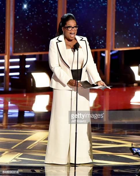 Oprah speaks onstage during the 69th Annual Primetime Emmy Awards at Microsoft Theater on September 17 2017 in Los Angeles California