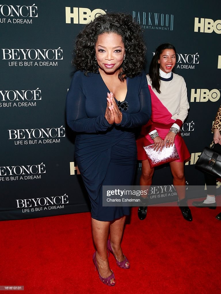 Oprah Winfery arrives at 'Beyonce: Life Is But A Dream' New York Premiere at Ziegfeld Theater on February 12, 2013 in New York City.