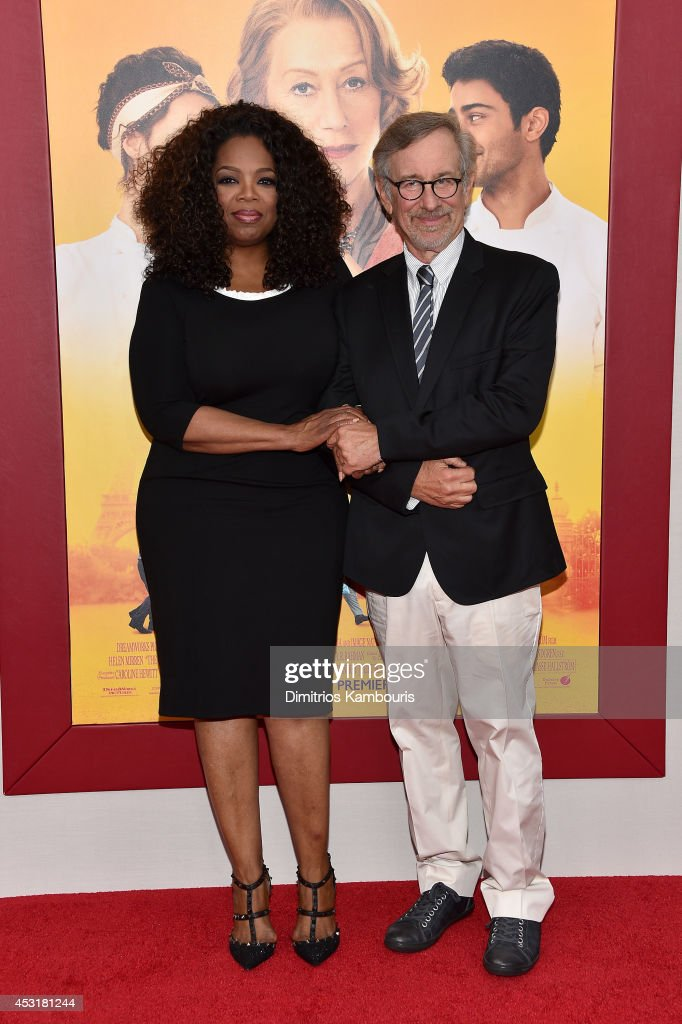 <a gi-track='captionPersonalityLinkClicked' href=/galleries/search?phrase=Oprah+Winfrey&family=editorial&specificpeople=171750 ng-click='$event.stopPropagation()'>Oprah Winfrey</a> (L) and director <a gi-track='captionPersonalityLinkClicked' href=/galleries/search?phrase=Steven+Spielberg&family=editorial&specificpeople=202022 ng-click='$event.stopPropagation()'>Steven Spielberg</a> attend the 'The Hundred-Foot Journey' New York premiere at Ziegfeld Theater on August 4, 2014 in New York City.