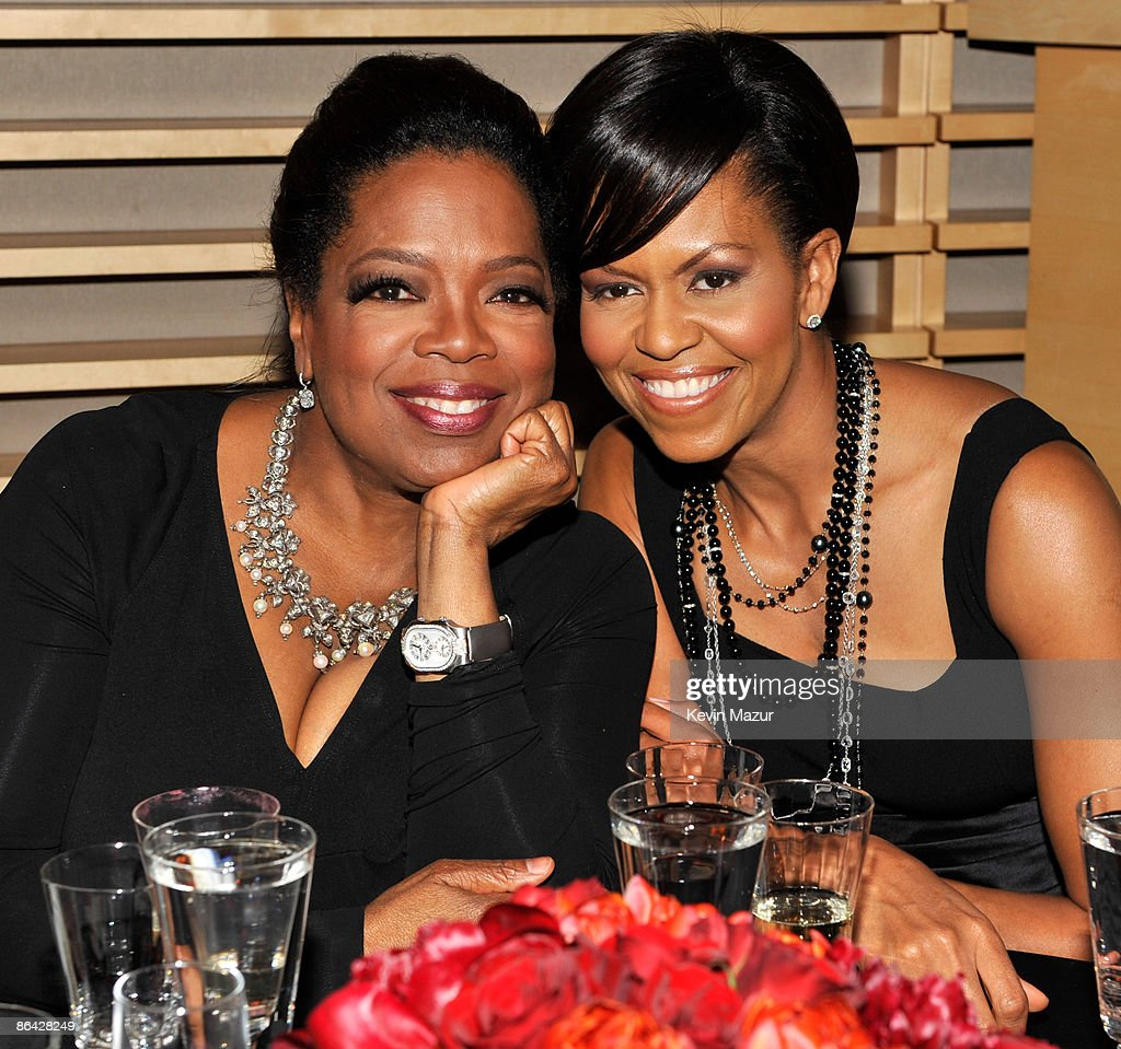 Oprah Winfrey and First Lady <a gi-track='captionPersonalityLinkClicked' href=/galleries/search?phrase=Michelle+Obama&family=editorial&specificpeople=2528864 ng-click='$event.stopPropagation()'>Michelle Obama</a> attends the Time's 100 Most Influential People in the World Gala at Rose Hall - Jazz at Lincoln Center on May 5, 2009 in New York City.