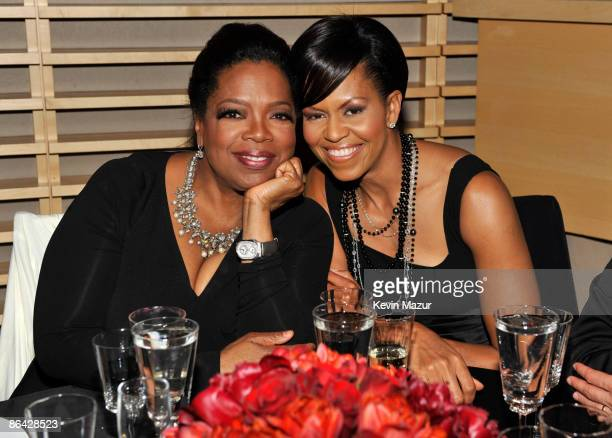 Oprah Winfrey and First Lady Michelle Obama attends the Time's 100 Most Influential People in the World Gala at Rose Hall Jazz at Lincoln Center on...