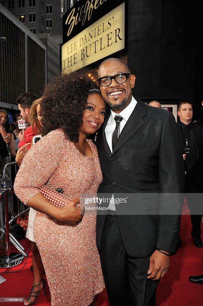 <a gi-track='captionPersonalityLinkClicked' href=/galleries/search?phrase=Oprah+Winfrey&family=editorial&specificpeople=171750 ng-click='$event.stopPropagation()'>Oprah Winfrey</a> (L) and <a gi-track='captionPersonalityLinkClicked' href=/galleries/search?phrase=Forest+Whitaker&family=editorial&specificpeople=226590 ng-click='$event.stopPropagation()'>Forest Whitaker</a> attend Lee Daniels' 'The Butler' New York Premiere, hosted by TWC, Samsung Galaxy and DeLeon Tequila on August 5, 2013 in New York City.