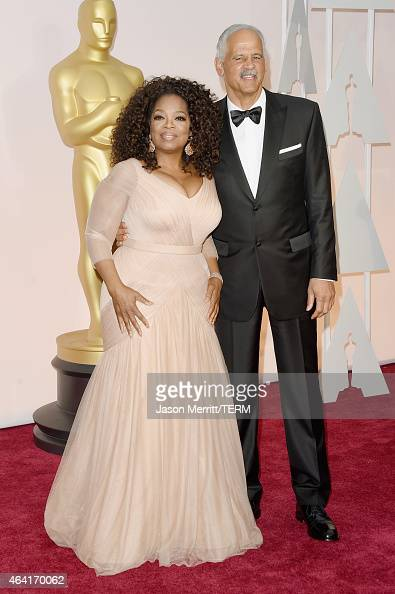 Oprah Winfrey and Stedman Graham attend the 87th Annual Academy Awards at Hollywood Highland Center on February 22 2015 in Hollywood California