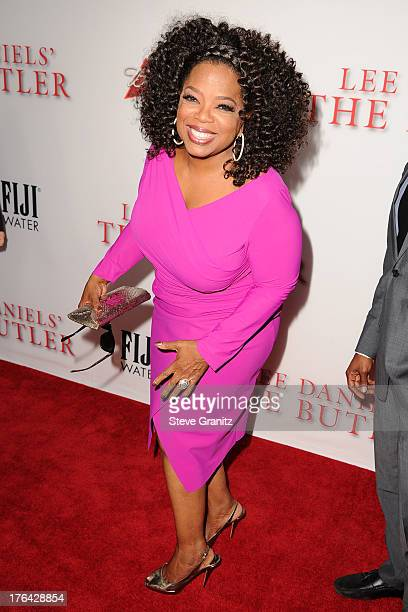 Oprah Winfrey arrives at the Los Angeles premiere of 'Lee Daniels' The Butler' at Regal Cinemas LA Live on August 12 2013 in Los Angeles California