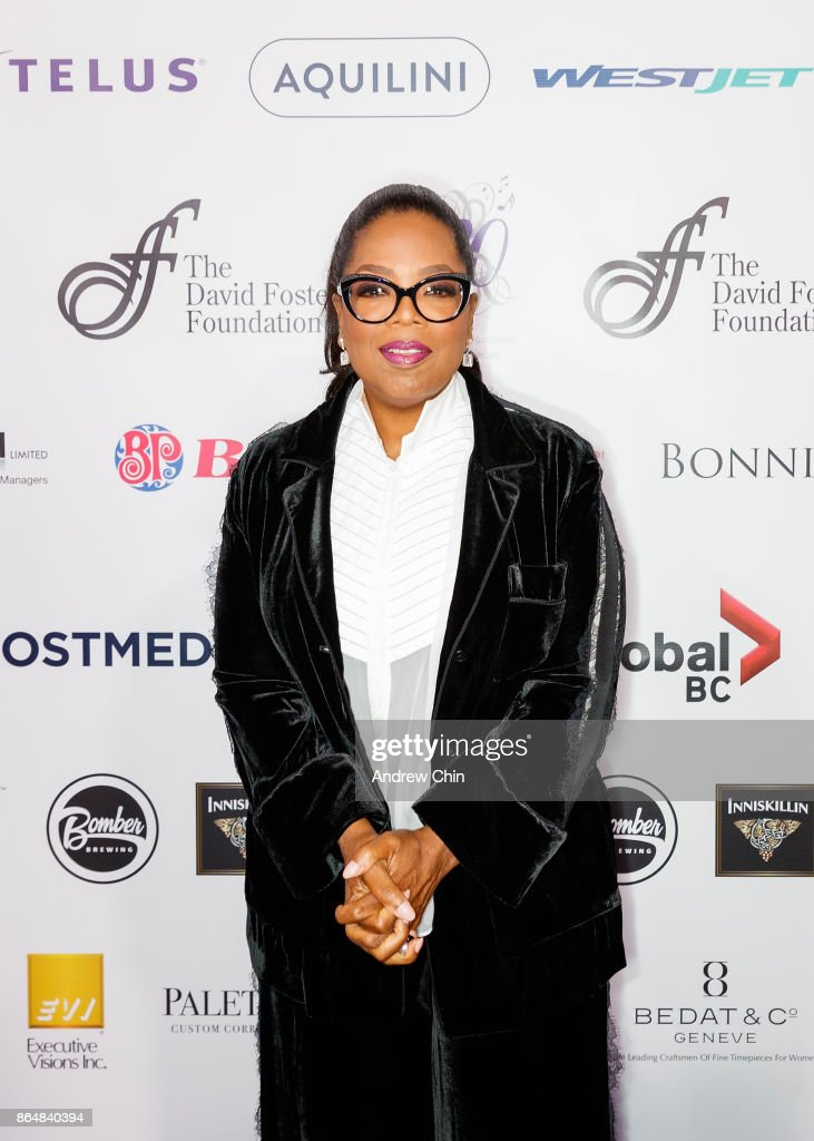 Oprah Winfrey arrives for the David Foster Foundation Gala at Rogers Arena on October 21, 2017 in Vancouver, Canada.