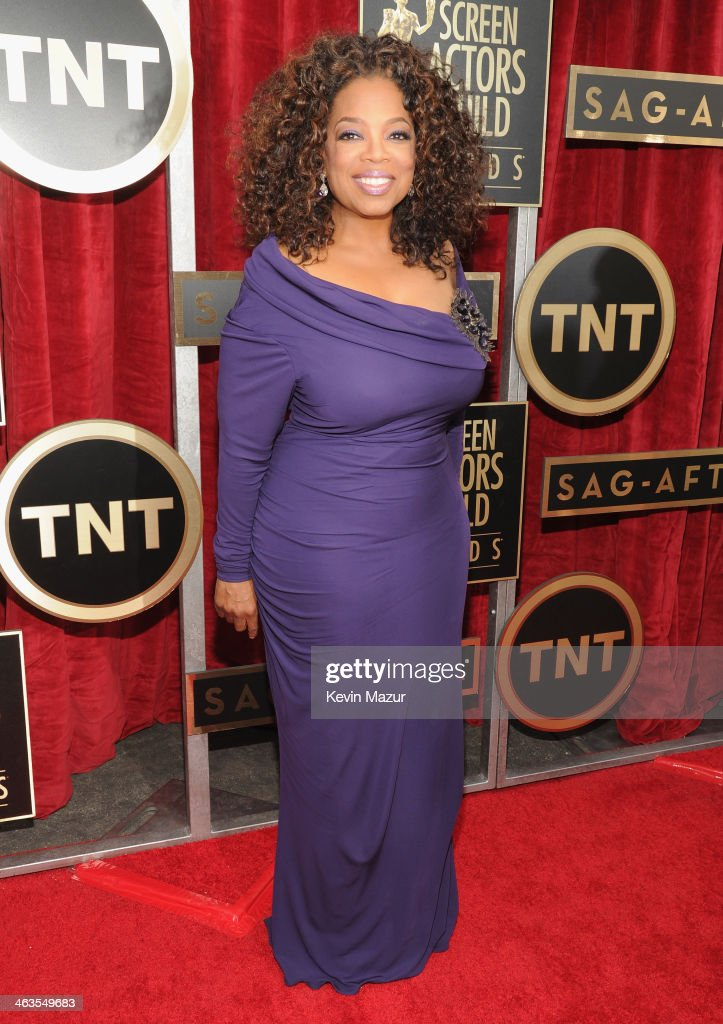 Oprah Winfrey attends 20th Annual Screen Actors Guild Awards at The Shrine Auditorium on January 18 2014 in Los Angeles California