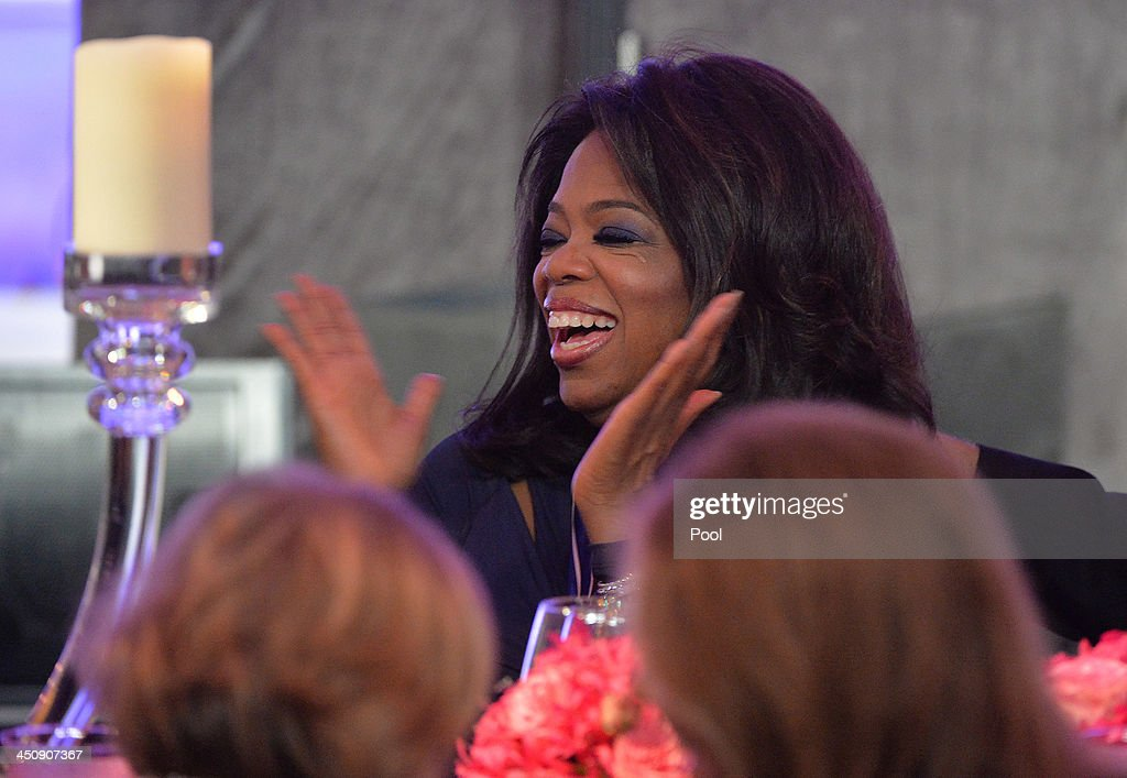<a gi-track='captionPersonalityLinkClicked' href=/galleries/search?phrase=Oprah+Winfrey&family=editorial&specificpeople=171750 ng-click='$event.stopPropagation()'>Oprah Winfrey</a> attends a dinner in honor of the Medal of Freedom awardees at the Smithsonian National Museum of American History on November 20, 2013 in Washington, DC. The Presidential Medal of Freedom is the nation's highest civilian honor, presented to individuals who have made meritorious contributions to the security or national interests of the United States, to world peace, or to cultural or other significant public or private endeavors.