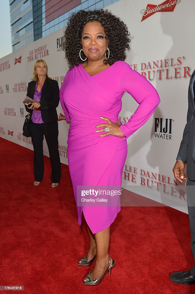 Oprah Winfrey attends LEE DANIELS' THE BUTLER Los Angeles premiere, hosted by TWC, Budweiser and FIJI Water, Purity Vodka and Stack Wines, held at Regal Cinemas L.A. Live on August 12, 2013 in Los Angeles, California.