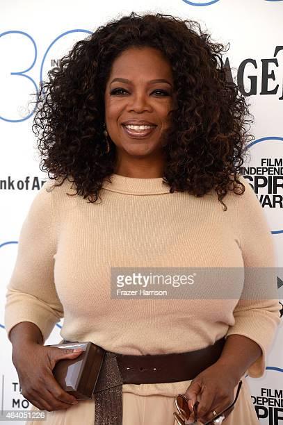 Oprah Winfrey attends the 2015 Film Independent Spirit Awards at Santa Monica Beach on February 21 2015 in Santa Monica California