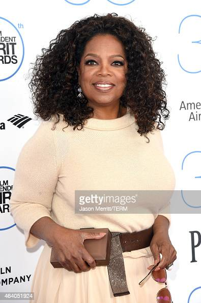 Oprah Winfrey attends the 2015 Film Independent Spirit Awards at Santa Monica Beach on February 21 2015 in Santa Monica California