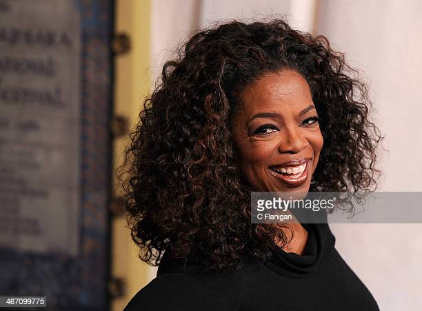 Oprah Winfrey attends the 29th Santa Barbara International Film Festival Montecito Award held at Arlington Theatre on February 5 2014 in Santa...