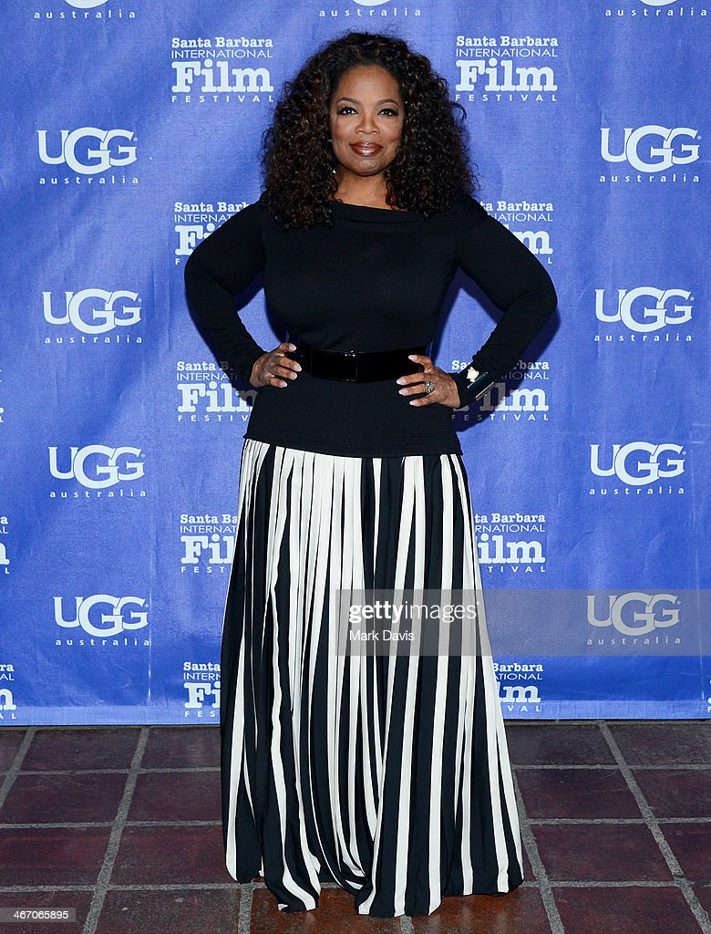 <a gi-track='captionPersonalityLinkClicked' href=/galleries/search?phrase=Oprah+Winfrey&family=editorial&specificpeople=171750 ng-click='$event.stopPropagation()'>Oprah Winfrey</a> attends the 29th Santa Barbara International Film Festival Montecito Award to <a gi-track='captionPersonalityLinkClicked' href=/galleries/search?phrase=Oprah+Winfrey&family=editorial&specificpeople=171750 ng-click='$event.stopPropagation()'>Oprah Winfrey</a> at the Arlington Theatre on February 5, 2014 in Santa Barbara, California.