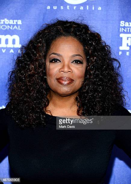 Oprah Winfrey attends the 29th Santa Barbara International Film Festival Montecito Award to Oprah Winfrey at the Arlington Theatre on February 5 2014...