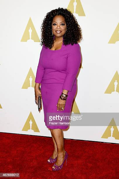 Oprah Winfrey attends the 87th Annual Academy Awards Nominee Luncheon at The Beverly Hilton Hotel on February 2 2015 in Beverly Hills California