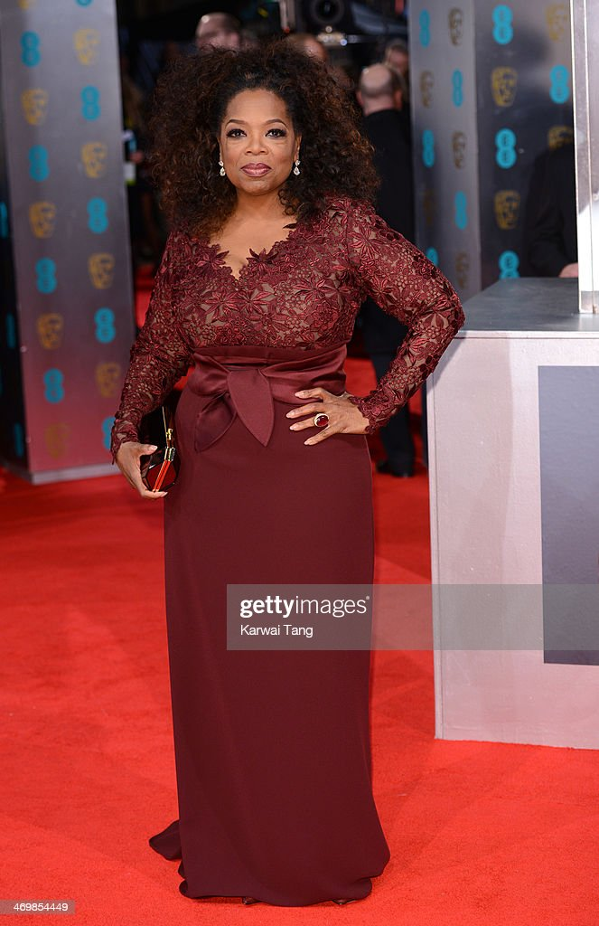 <a gi-track='captionPersonalityLinkClicked' href=/galleries/search?phrase=Oprah+Winfrey&family=editorial&specificpeople=171750 ng-click='$event.stopPropagation()'>Oprah Winfrey</a> attends the EE British Academy Film Awards 2014 at The Royal Opera House on February 16, 2014 in London, England.