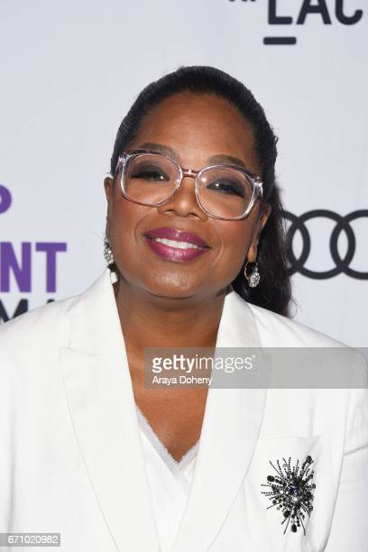 Oprah Winfrey attends the Film Independent at LACMA Special Screening and QA of 'The Life Of Henrietta Lacks' at Bing Theatre At LACMA on April 20...