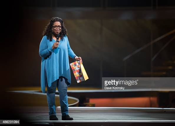 Oprah Winfrey attends the Oprah's The Life You Want Weekend Day 2 at Prudential Center on September 27 2014 in Newark New Jersey