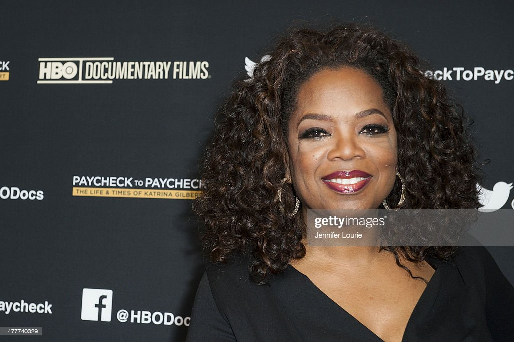 Oprah Winfrey attends the premiere of HBO Documentary Films' 'Paycheck To Paycheck' at the Linwood Dunn Theater at the Pickford Center for Motion Study on March 10, 2014 in Hollywood, California.