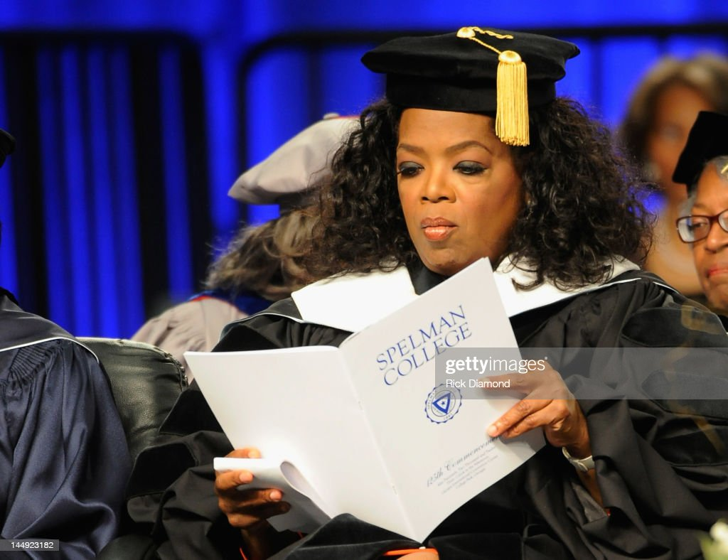Oprah Winfrey attends the Spelman College Commencement at Georgia International Convention Center on May 20, 2012 in College Park, Georgia.