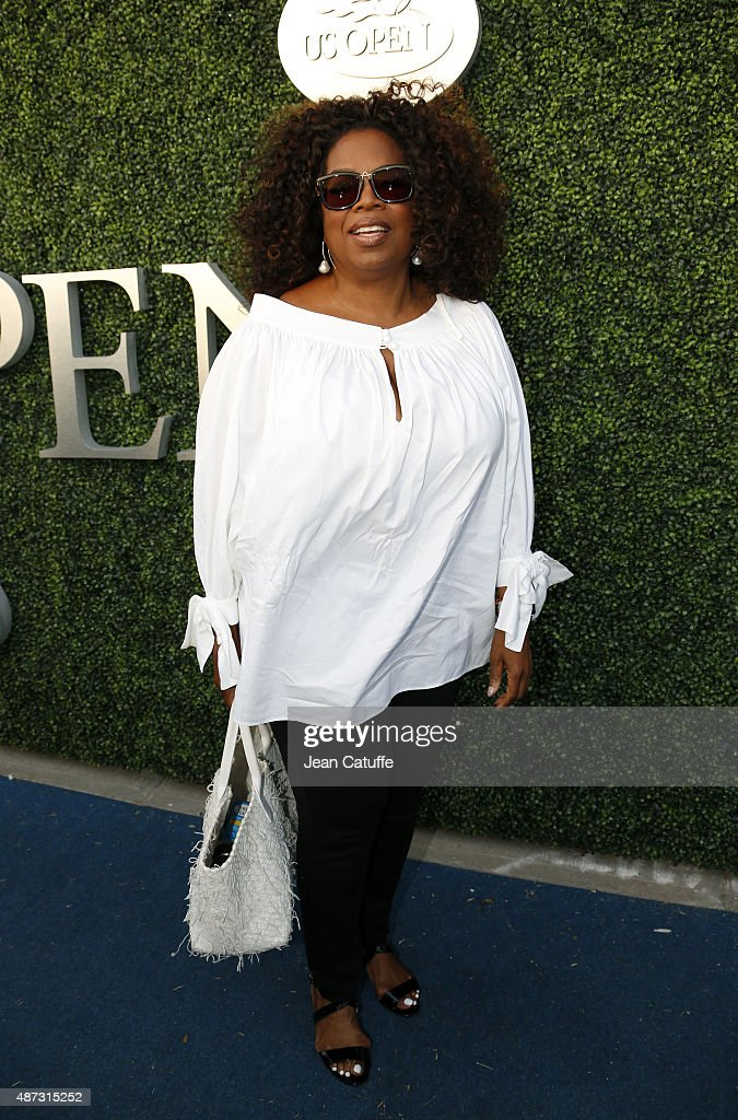 Oprah Winfrey attends the Williams sisters match on day nine of the 2015 US Open at USTA Billie Jean King National Tennis Center on September 8 2015...