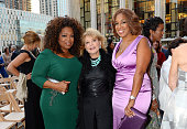Oprah Winfrey Barbara Walters and Gayle King attend the David Geffen Hall Renaming Ceremony The New York Philharmonic's 201516 Opening Gala Concert...