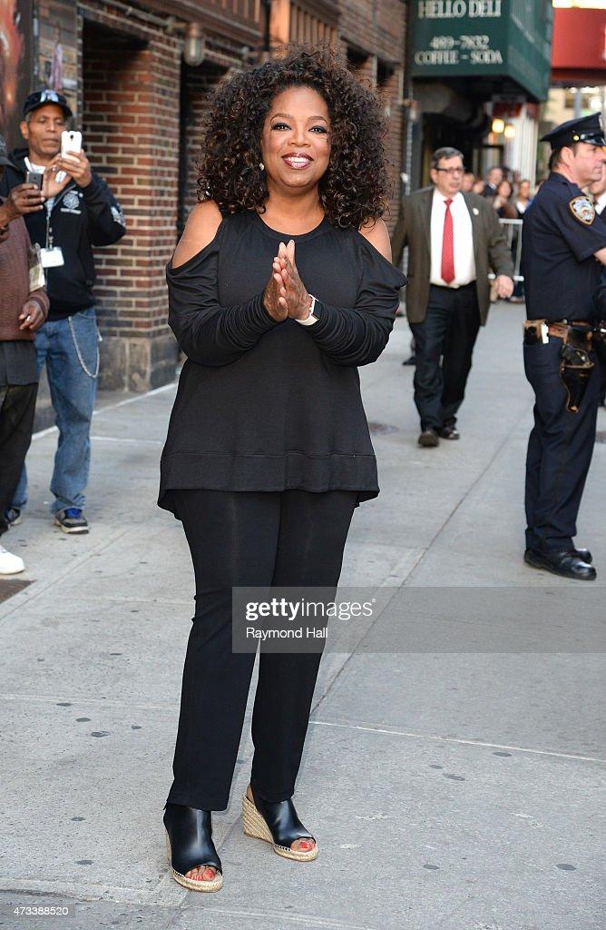 Oprah Winfrey is seen leaving the 'Ed Sullivan Theater' on May 14 2015 in New York City